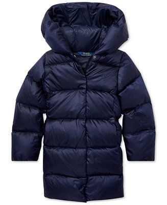 05314d98 Shop Polo Ralph Lauren Toddler Girls Quilted Hooded Down ...