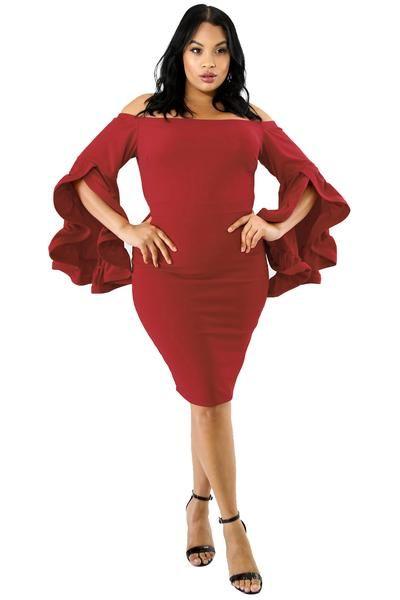 Red Plus Size Cha Cha Body-Con Dress in 2019 | PLUS SIZE ...