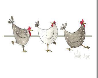 Marinated Chicken Greeting Card Funny Chicken by SarahBoddyUK