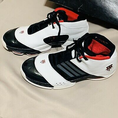 Adidas Tmac 6 Fw06 Black White Red Leather Sneaker13 Rare Vintage Tmac W Box Leather Sneakers Vintage Adidas Mens Sneakers Casual