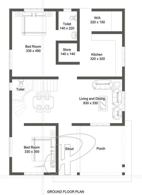 95 Sq M Two Bedroom Home Design With Images House Plans Model House Plan Double Story House
