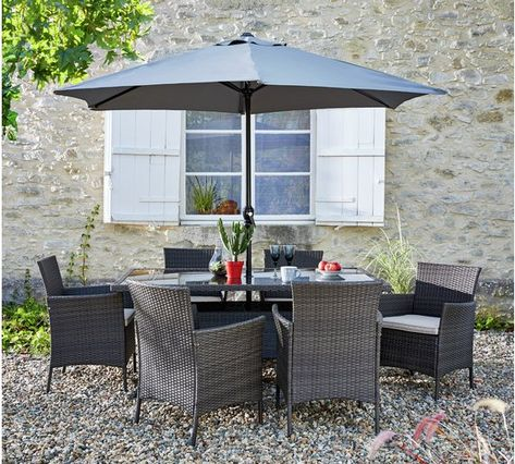 Buy Collection Fiji 48 Seater Rattan Patio Set Grey At Argoscouk Inspiration Home And Garden Furniture Collection