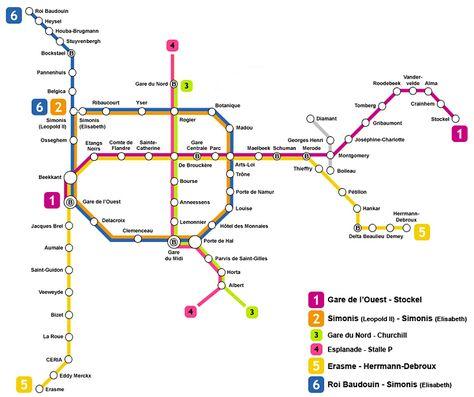 Plano De Metro De Bruselas Plano Metro Bruselas Y Bruselas Mapa