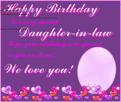 Happy Birthday Daughter In Law Quotes Quotesgram In 2020 Happy