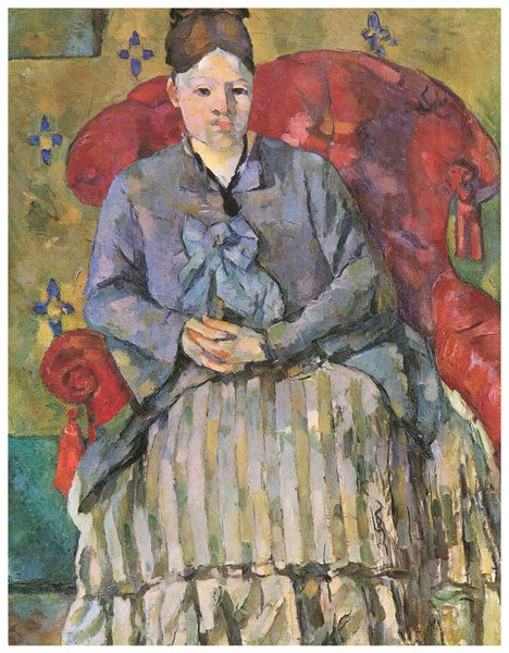 Madame Cezanne In A Red Armchair - HOME DECOR
