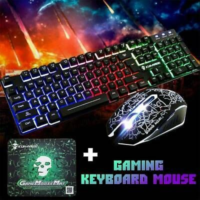 Ebay Link Ad 1set T6 Rainbow Led Backlit Usb Wired Keyboard