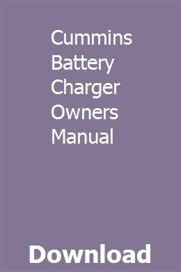 Cummins Battery Charger Owners Manual Chevrolet Equinox Student