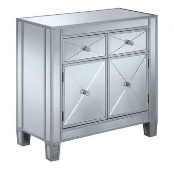 Nicci 1 Drawer 2 Door Accent Cabinet Reviews Joss Main Mirror Cabinets Mirrored Furniture Accent Doors