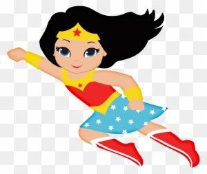 Wonderwoman Baby Clipart Imagenes De Mujer Maravilla Animada Baby Wonder Woman Clip Art Wonder Woman