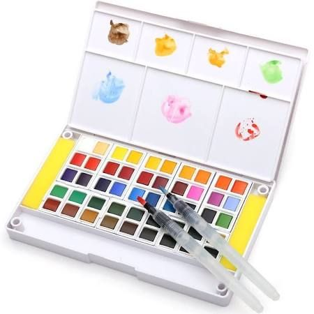 Dainayw Watercolor Paint Set 48 Assorted Watercolors Travel