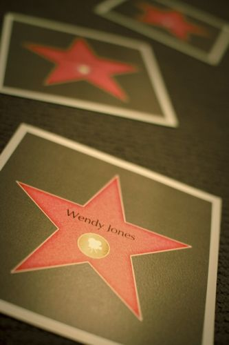 Use this FREE template to create the stars on Hollywood Boulevard... let your guests find their names.
