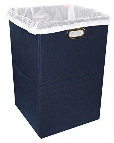 Woven Clothes Basket Large Soft Cotton Storage Laundry Hamper Navy Blue Baby Laundry Basket Laundry Basket Baby Laundry
