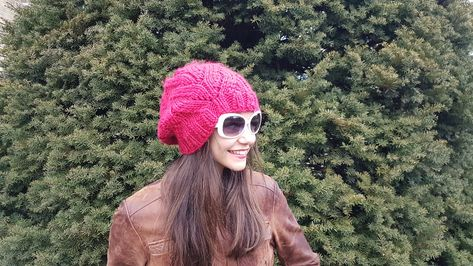 32fe617d841 Cranberry red slouchy beanie available in my shop. You can also get it in  two shades of grey. Do you want a custom colour  Reach out to me in Etsy and  I ...
