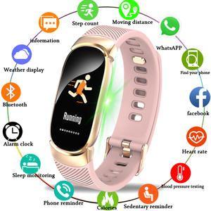 Reloj Inteligente Bangwei Para Mujer Deportivo Para Hombre Reloj Inteligente Resistente Al Agua C In 2020 Smartwatch Women Fitness Watch Tracker Smart Watches Men