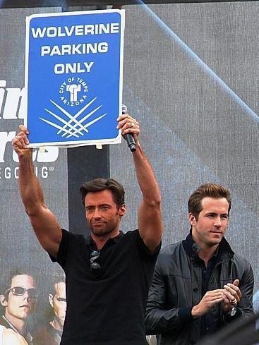 Ryan Reynolds in the background