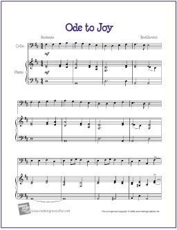 Ode To Joy Beethoven With Images Cello Sheet Music Clarinet