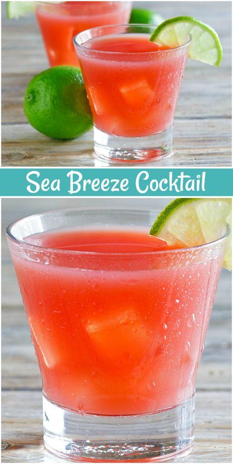 Sea Breeze Cocktail recipe from RecipeGirl.com #sea #breeze #cocktail #summer #drink #beverage #happyhour #recipe #RecipeGirl #seabreeze #bardrinksrecipes