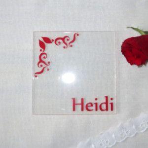 Acryl Untersetzer Tischkarte Ornament Dekorativ Und