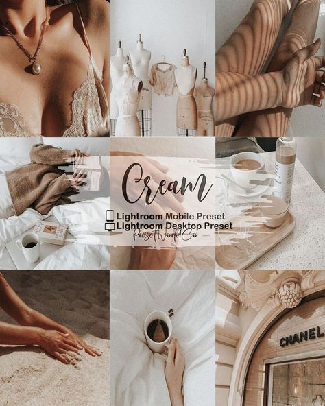 Cream VSCO Inspired Lightroom Preset/Lightroom mobile and desktop/Mobile Presets/Destop Presets/Instagram filters/Blogger/Beige tone