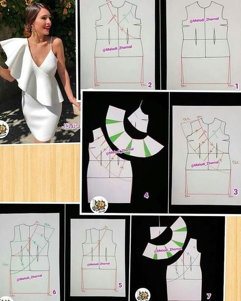 "Ozella on Instagram: ""Picture pattern tutorial. .. .. .. *picturesourcedfrompinterest #patterninspiration #picturepatterntutorial #learnpatterndrafting…"""