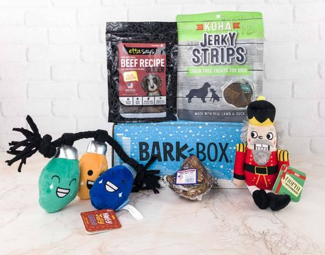 subscriptionbox Barkbox December 2017 theme...