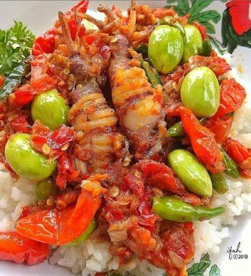 Nasi Oseng Cumi Pedas Resep Masakan Makanan Pedas Resep Makan Malam Sehat