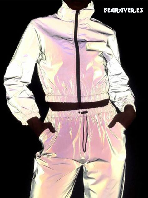NewL Pantalones Reflectantes para Hombre Gris
