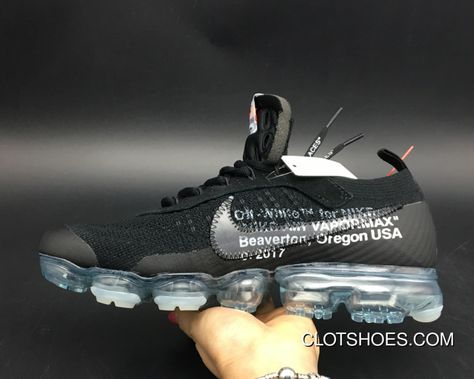 f486c48ef8 Women/Men Discount Off-White X Nike Air VaporMax Black/Total Crimson-Clear