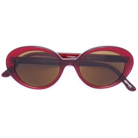 b5e63a2615fa7 Oliver Peoples Oliver Peoples X the Row Oversized Sunglass featuring  polyvore
