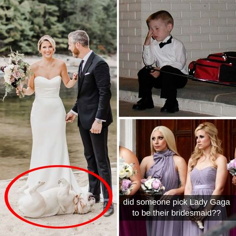 The bride is supposed to be the center of the ceremony, but sometimes somebody else comes along and steals the show.