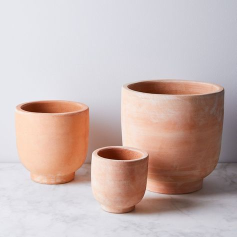 Footed Terra-Cotta Planters on Food52