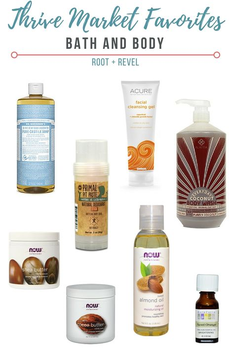 Thrive Market Review Shopping List Natural Deodorant