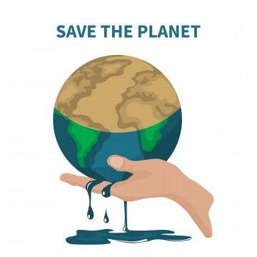 Il Vettore Di Amare La Terra Il Risparmio Di Energia E Ambiente Rechauffement Climatique Sauver La Terre Sauver La Planete