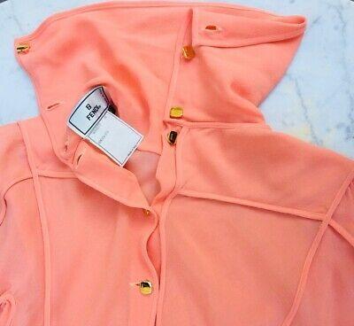 Dettagli Su Camicia Fendi Camicia Seta Pura Shirt Fendi Silk Pesca Bottoni Oro Nel 2020 Maglioni Cardigan Camicia Pantaloni Eleganti