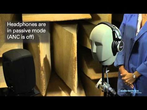 Ath Anc7b Quietpoint Active Noise Cancelling Headphones Demonstration Best Noise Cancelling Headphones Noise Cancelling Headphones Youtube