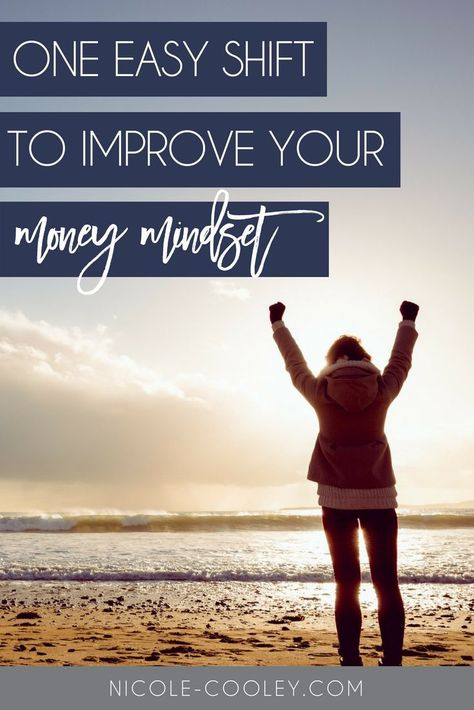 One easy shift you can make to improve your money mindset. The language you use is very important to how you view your relationship with money. Budgeting does not have to mean living with less. Click here to learn how positive affirmations can change your