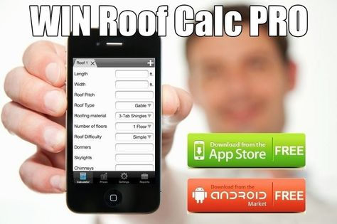 Image Of Roofing Estimating App For IPhone And Android | Roofing Calculator  | Pinterest | Roof Design Sc 1 St Pinterest