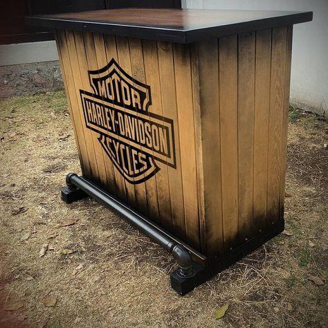 56 Trendy Ideas For Vintage Logo Bike Harley Davidson Harley Davidson Decor Custom Home Bars Diy Outdoor Bar