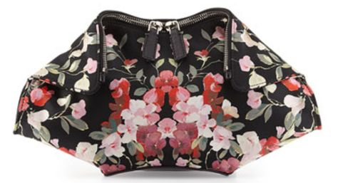 Alexander McQueen Midnight Floral Fold-Over Clutch