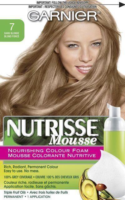 Garnier Nutrisse Nourishing Color Foam Permanent Hair Color 7