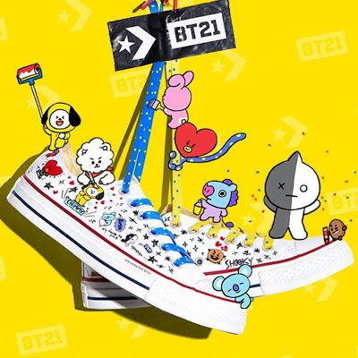 Converse and Line Friends team up for Converse x BT21