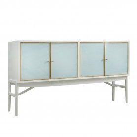 Seaglass Four Door Sideboard Light Blue Somerset Bay Sbt470 Furniture Wooden Doors Home Furnishings