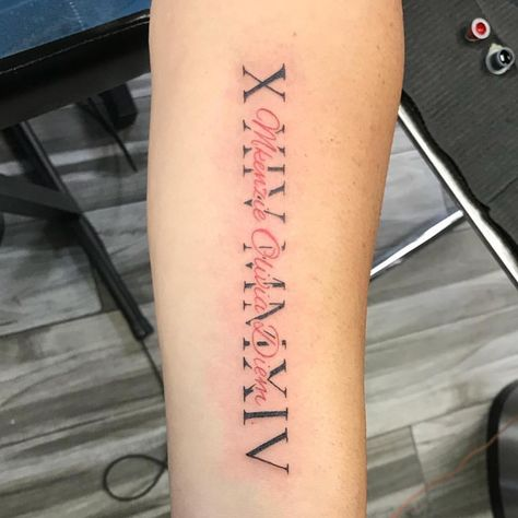125 Roman Numeral Tattoos: Have A Better Appeal With Numerical Tattoos - 125 Ro. - 125 Roman Numeral Tattoos: Have A Better Appeal With Numerical Tattoos – 125 Roman Numeral Tatto - Tribal Tattoos, Red Tattoos, Dope Tattoos, Tattoos Skull, Arabic Tattoos, Tattoos Of Dates, Dreamcatcher Tattoos, Wing Tattoos, Tatoos