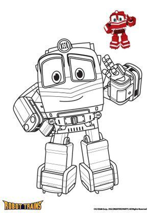Alf Robots Drawing Train Coloring Pages Train Cartoon