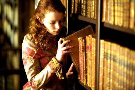 Dakota Blue Richards as Maria Merryweather in The Secret of Moonacre (2008).