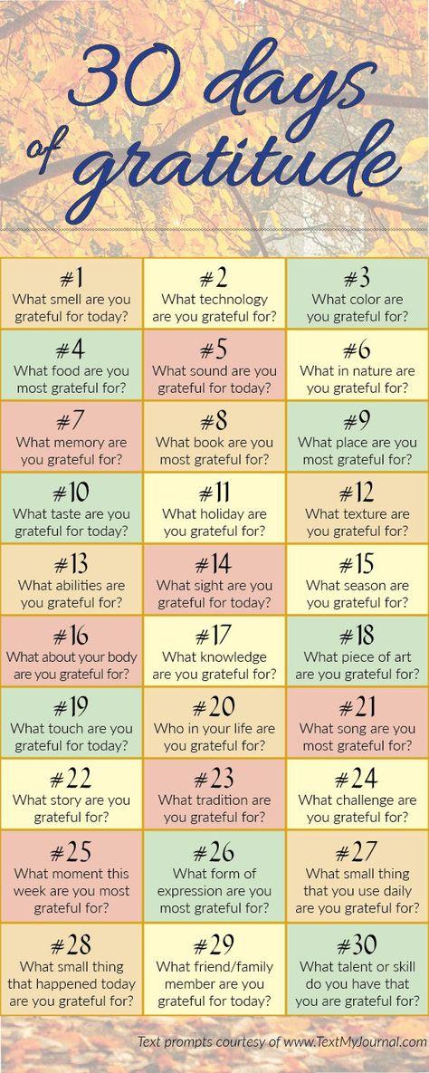 Gratitude Journal Prompts - TextMyJournal