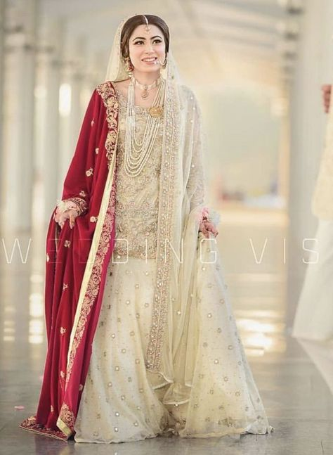 ivory with red wedding dresses