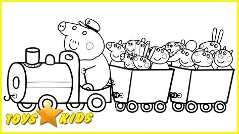 Peppa Pig Train Coloring Pages From The Thousand Photographs On The Internet About Peppa Pi Peppa Pig Coloring Pages Peppa Pig Colouring Train Coloring Pages