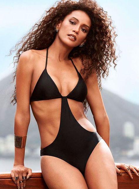 Bikini Tan Lines, Black Bikini, Bandeau Bikini, Thong Bikini, Bandeau Tops, Brazilian Women, Beach Poses, White Bikinis, Victoria Secret Bikini