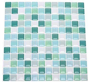 20pcs Set 3d Diy Waterproof Self Adhesive Wall Stickers Mosaic